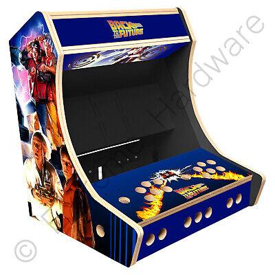 "BitCade 2 Player 19"" Bartop Arcade Cabinet Machine with Back to the Future Art"