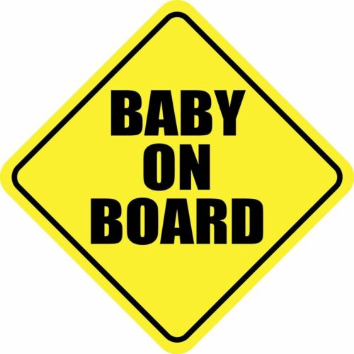 BABY ON BOARD STICKER DECAL 3M CHILD CAR SIGN