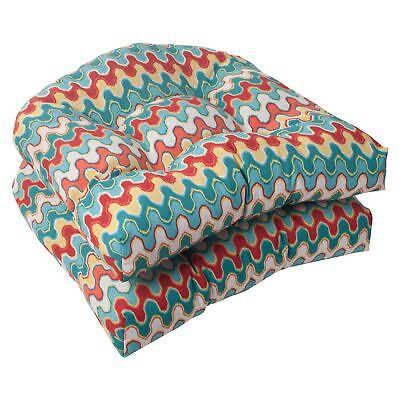 Pillow Perfect Indoor/Outdoor Nivala Wicker Seat Cushion, Bl
