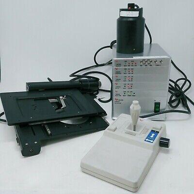 Ludl Lep Motorized Microscope Stage System 99s100 Mac5000 Power Base Joystick