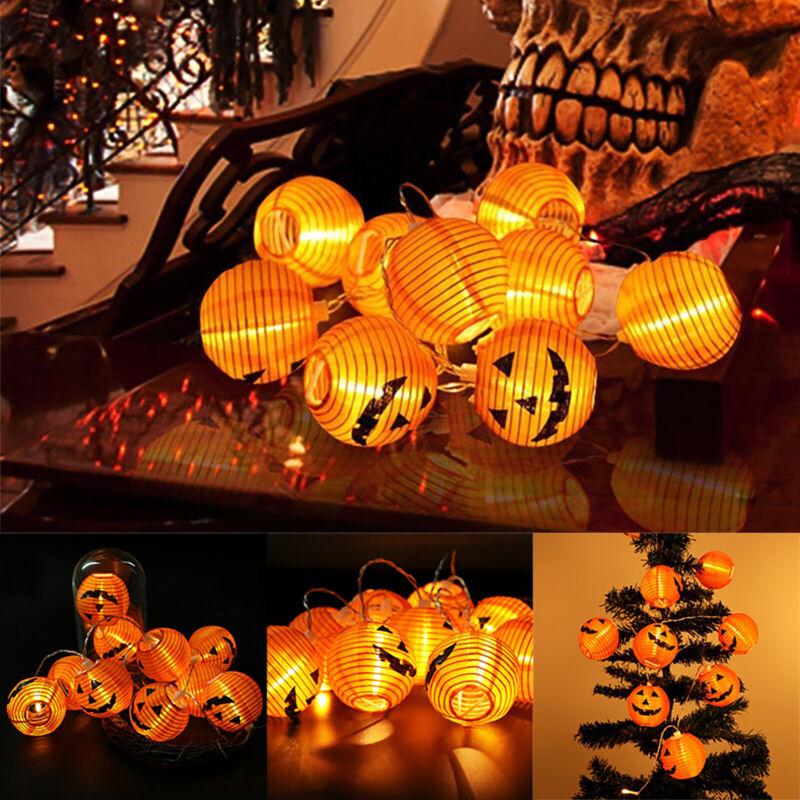 10 led pumpkin lantern halloween string fairy