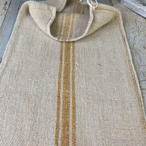 Grain Sack Vintage  stripes handwoven European soft homespun hemp textile