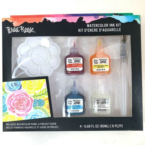 Brea Reese Watercolor Ink Paint Kit 8Pc Artist Painter set Hobby