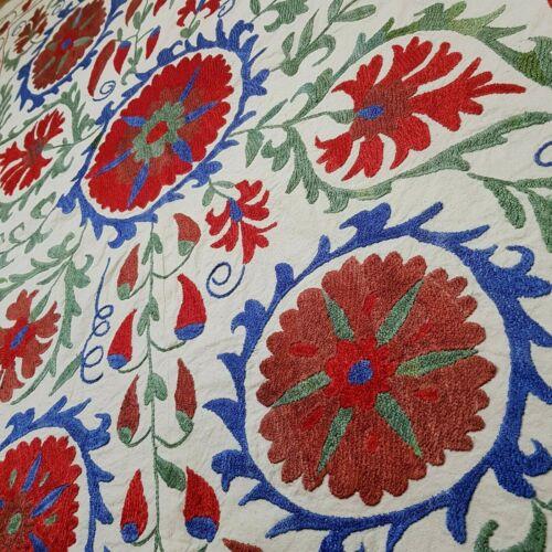 Uzbek suzani Nurota,original handmade,embroidery,tapestry,tablecloth,bedspread