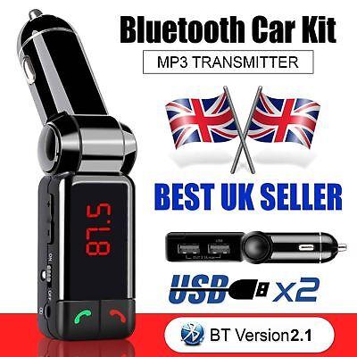 Wireless Bluetooth Car Kit FM Transmitter MP3 USB LCD Handsfree For Mobile Phone Wireless Mobile Fm-transmitter