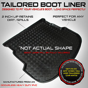 VW Tiguan [5 seats] (2007 to 2014) Tailored PVC Boot Liner / Tray  [Tool Set]