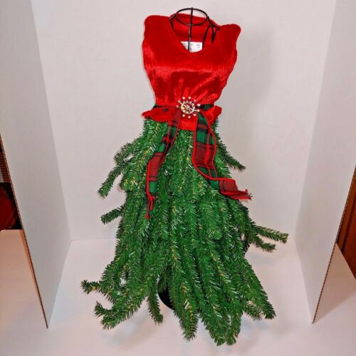 New Boutique Dress Form Mannequin Table Top Christmas Tree red NWT