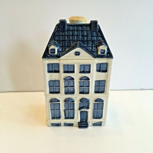 KLM BOLS Canal House # 48 Excellent Condition White Blue Delft Amsterdam