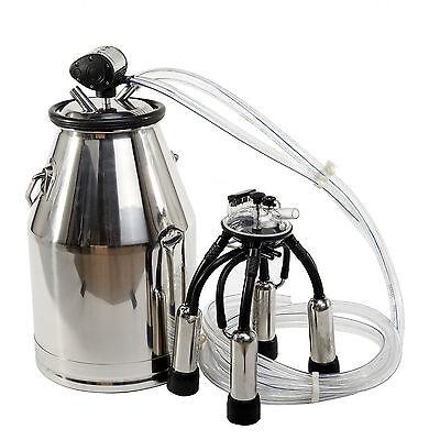 304 Stainless Steel Portable Dairy Cow Milker Milking Machine Bucket Tank Barrel