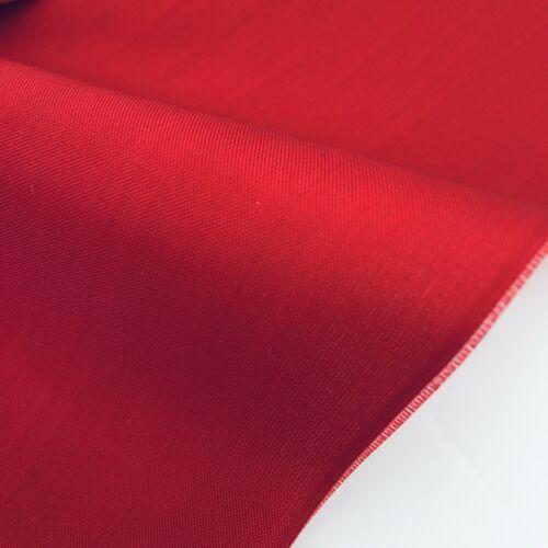 J-Silk Fire Red #B 7x37 Vintage Silk Japanese Kimono Fabric Panel JD16
