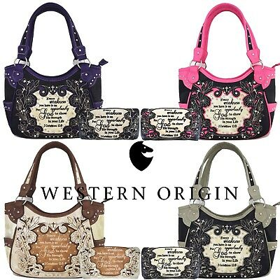 Scripture Bible Verse Western Purses Country Handbags Women Shoulder Bags - Bible Bag