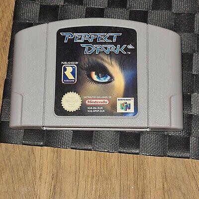 N64 Nintendo 64 Perfect Dark Uk Pal Game Cartridge Genuine Tested Working Cond.