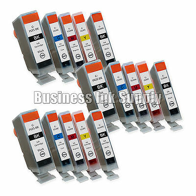 15 Pk W/ Chip Ink For Canon Pixma Mx700 Pgi-5 Cli-8