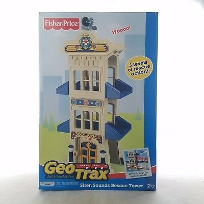 Fisher Price GeoTrax - RARE 2007 Retired Rescue Tower Train Christmas Train Set