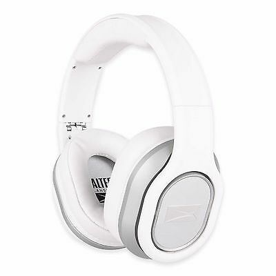 White Foldable Integrated Mic Song Navigation Earphones Over The Ear Headphones