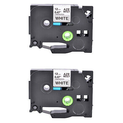 2pk Black On White Tz231 Tze231 Label Tape For Brother P-touch Pt-1290 12