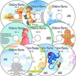 100 Children's Audio Stories on 10 CD's Classic Children Kids Fairy Story books