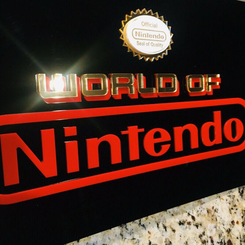 🟢High Quality Reproduction World of Nintendo Sign - New Wall Art Pedigree!