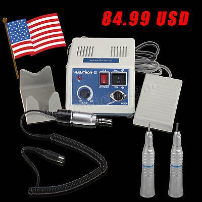 Usa Dental Lab Marathon Electric Micro Motor 2x Straight Slow Speed Handpiece