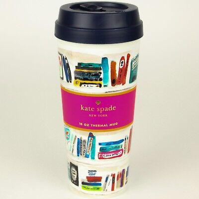 Kate Spade New York - Like A Book - 16oz Thermal Coffee Mug Travel Tumbler w/Lid