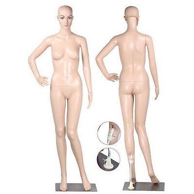 5.8 Ft Female Mannequin Plastic Full Body Head Turns Dress Form Display W Base