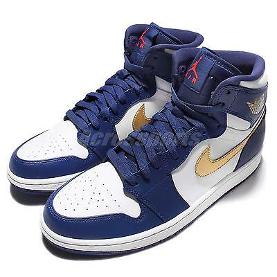 Nike Air Jordan 1 Retro High Olympic Deep Royal Men Basketball Shoes 332550-406