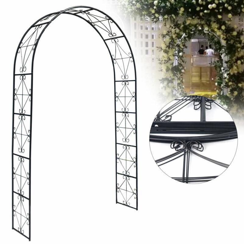 Garden Wedding Archway Arch Arbor Trellis Yard Decor Patio Iron Structure Gate