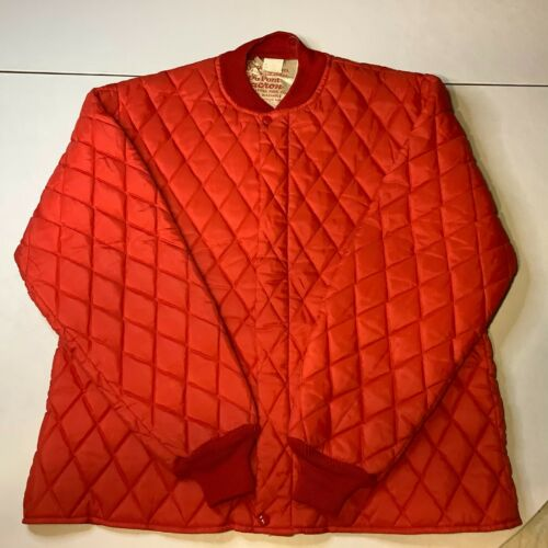 Vintage 1950s Boys Scouts of America Jacket DuPont Dacron Camp Warmer Red Sz M