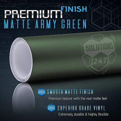 - Premium Matte Flat Army Green Vinyl Wrap Film Sticker Decal Bubble Free Air