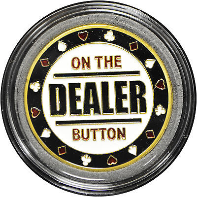 - Casino Poker Card Guard Cover Protector ON THE DEALER BUTTON
