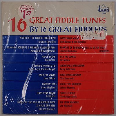 (16 GREAT FIDDLE TUNES: Various Artists, Bluegrass BANFF Early LP VG+)
