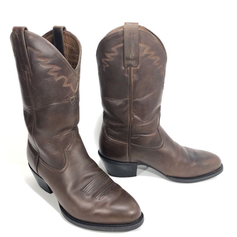 Ariat, Mens, Sedona, Distressed, Brown, Leather, Cowboy, Western, Boots, 34625, Size, 8, EE