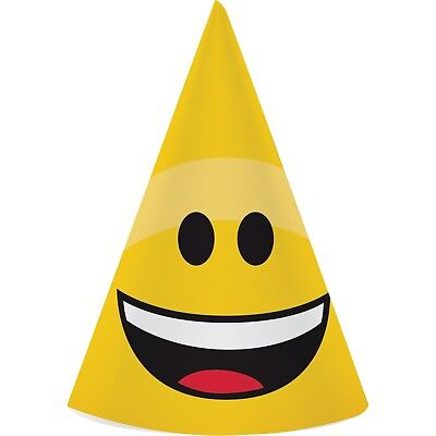 Party Hat Emoji (Emoji Party Hats, 24 Count)