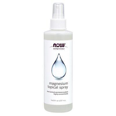NOW Foods Magnesium Topical Spray, 8 fl. oz. - Magnesium Moisturizing Moisturizer