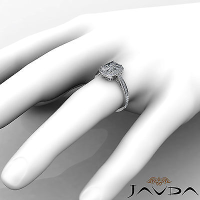 Filigree Halo Pave Setting Cushion Diamond Engagement Ring GIA G Color SI1 1.5Ct 3