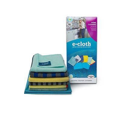 E-Cloth 8 Cloth Home Cleaning Set, Perfect Chemical Free Cleaning With Just