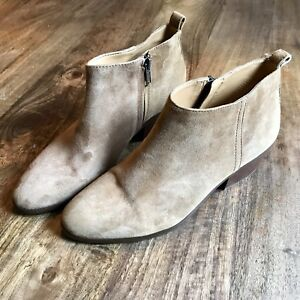 J. Crew suede ankle boots size 8 (camel)