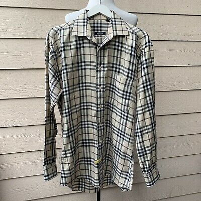 Burberry Signature Nova Check Button Down Shirt Men Long Sleeve Plaid Casual L