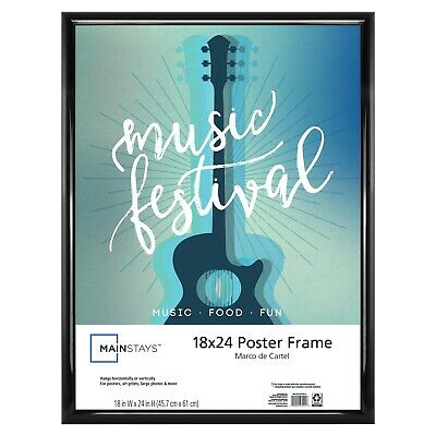 Mainstays 18x24 Trendsetter Poster and Picture Frame, Black