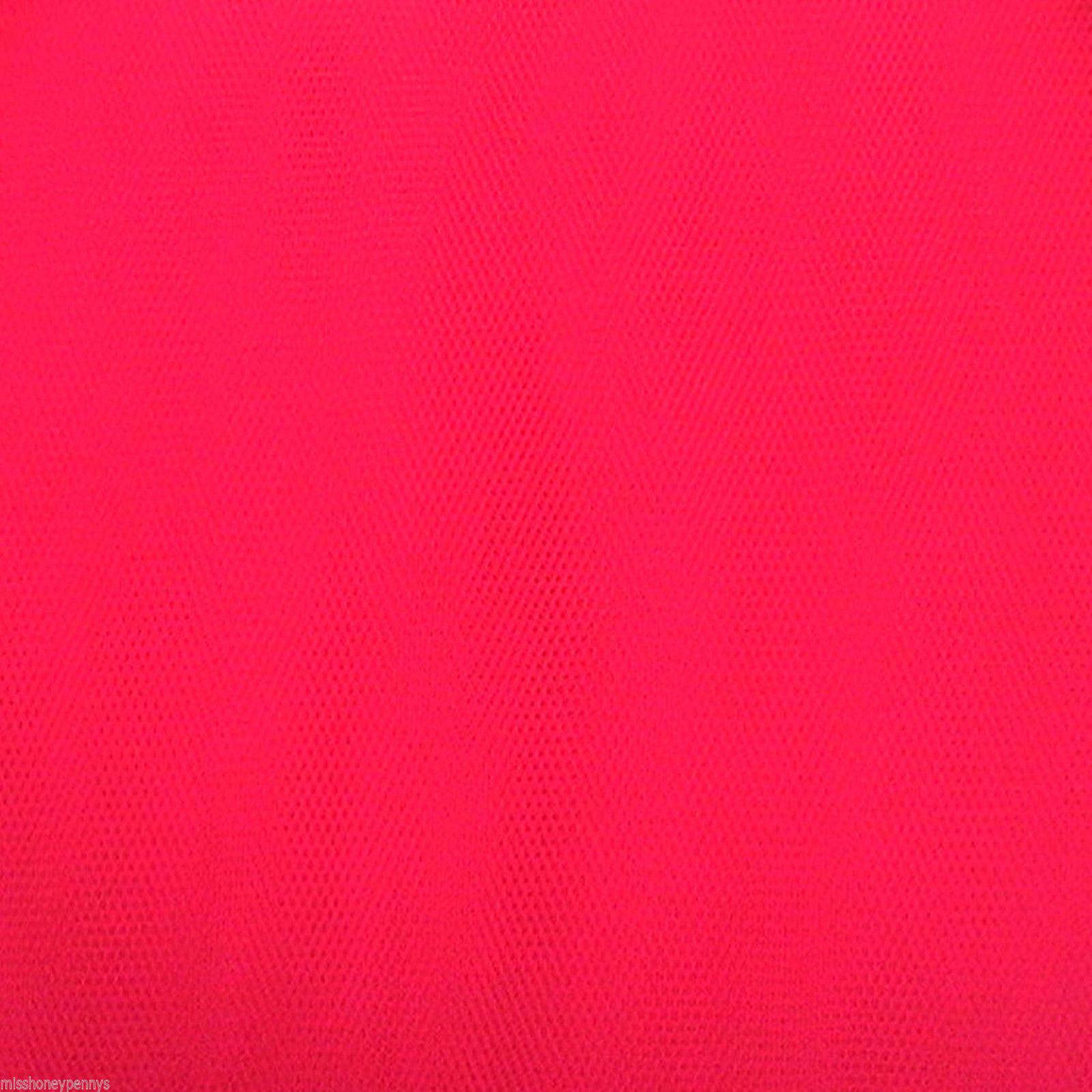 Neon Cerise Pink Tutu 80s Fancy Dress Net Tulle Fabric
