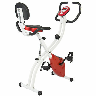 BCP Folding Exercise Bike w/ 8-Level Magnetic Resistance, Adjustable (Best Choice Products Folding Bike)