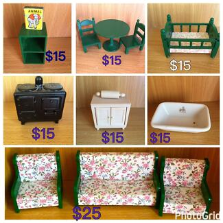 SYLVANIAN FAMILIES VINTAGE Furniture  as priced from $15