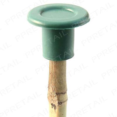 50x Round Garden Cane Caps ~THICK RUBBER~ Bamboo Stick Eye Protector Topper BULK
