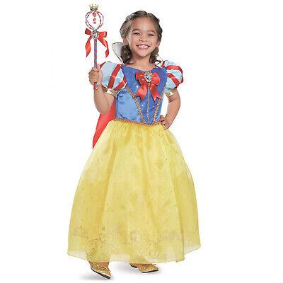 Snow Girl Halloween Costume (Kids Girl Prestige Disney Princess Snow White Halloween Costume Dress S M)