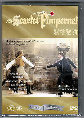Scarlet Pimpernel DVD R:0 Anthony Andrews Jane Seymour Ian McKellen Clive Donner