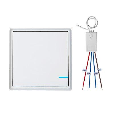 Funkschalter Lichtschalter mit Empfänger LED Anzeige Set LED Lampen Wandschalter