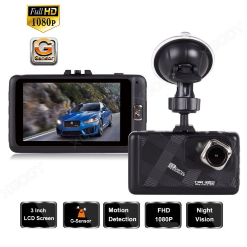 1080p HD Car Vehicle Dash Cam Dashboard 3In Video Recorder Camera DVR G-Sensor