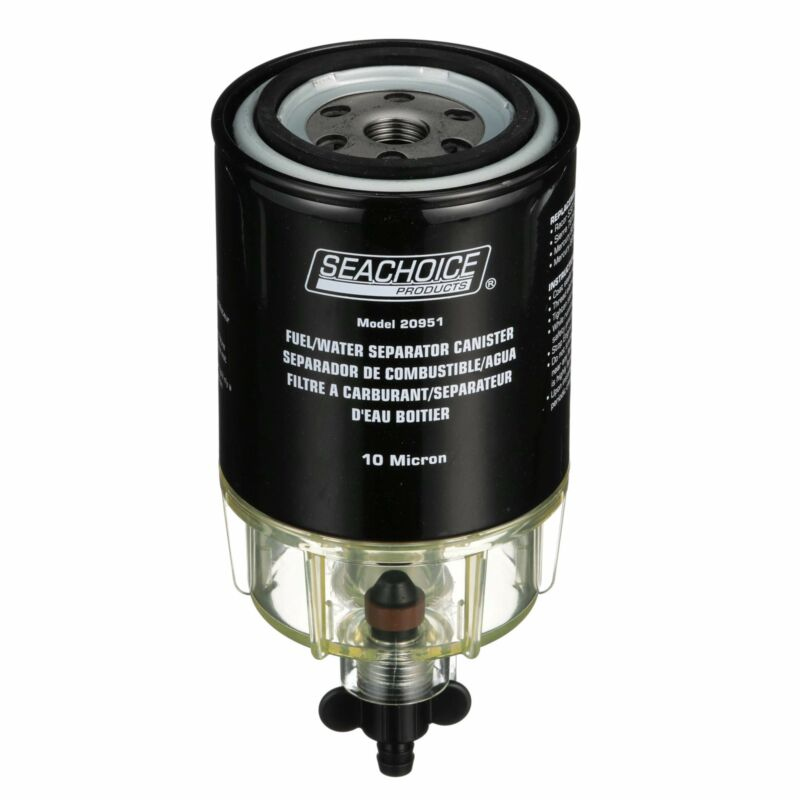 Seachoice 20931 Outboard Engine Fuel/Water Separating Filter Kit, 10 Micron