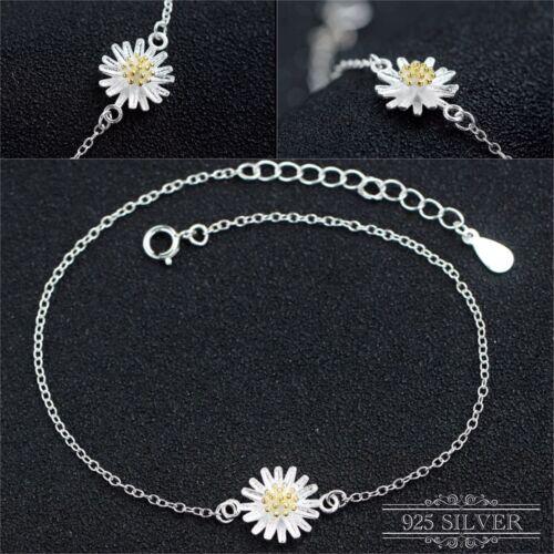 Jewellery - 925 Sterling Silver Bracelet Anklet Daisy Flower Ankle Jewellery Chain Foot Boho