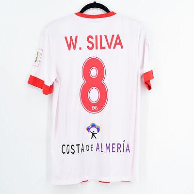 2014-15 Almería Home Shirt #8 W. SILVA Nike Match Worn Jersey image